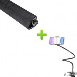 Husa led bar + cadou brat flexibil pentru telefon, rotire 360, prindere clema