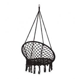 Leagan tip scaun, negru, max 150 kg, 79x80x120 cm