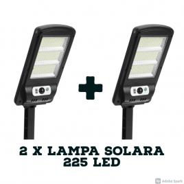 Set 2 x lampa solara 225 led