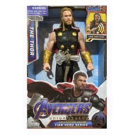 Figurina Avengers, Thor cu efecte sonore si luminoase, 30 cm