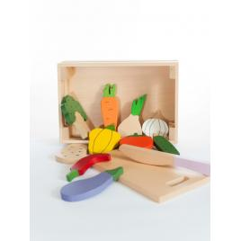 Jucarie handmade marc toys - ladita cu fructe si legume