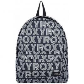 Rucsac Roxy cu model logo - 16 L, Negru cu alb