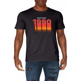 Tricou Jack & Jones cu imprimeu 1990, Negru, Marimea M