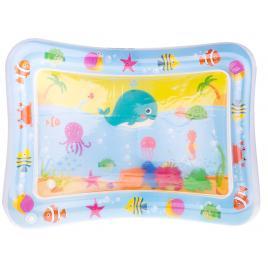 Covor saltea cu apa, centru de activitati pentru bebelusi, model pesti plutitori, 62x45 cm, albastru