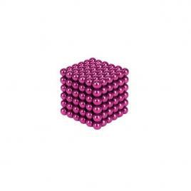 Joc puzzle antistres neocube cu bile magnetice 216 bucati, diametru bile 3mm, roz