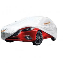 Prelata auto fiat linea, impermeabila, anti-umezeala si anti-zgariere cu fermoar si dungi reflectorizante, argintiu