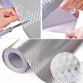 Set 3 role de tapet autoadeziv argintiu 60 x 3m