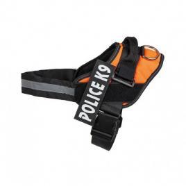 Ham pentru caini police k9, marimea l, 65-80 cm, portocaliu