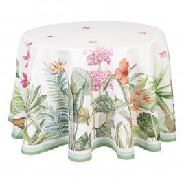 Fata de masa bumbac rotunda botanic  Ø 170 cm