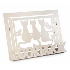 Suport carte din metal crem 30 cm x 13.5 cm x 21 h
