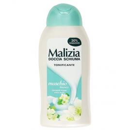 Gel de dus tonifiant malizia  cu parfum de mosc alb 300ml