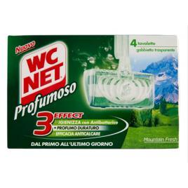 Odorizant toaleta wc net profumoso mountain fresh , solid 4 buc x 34g