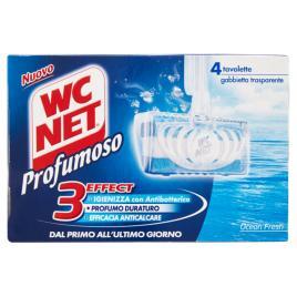 Odorizant toaleta wc net profumoso ocean fresh , solid 4 buc x 34g