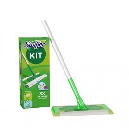 Pachet swiffer kit pentru pardoseli (mop + 8 lavete uscate+ 3 lavete umede) pentru indepărtarea prafului
