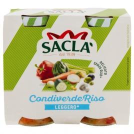 Salata italiana light de legume pentru orez condiverde riso sacla 2 bucx175g
