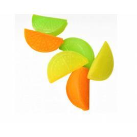 Set 18 cuburi de gheata reutilizabile, forme de fructe colorate