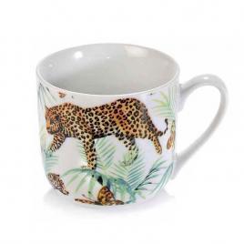 Cana din portelan model leopard Ø 9.5 cm x 9.5 h 450 ml