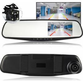 Camera Video Auto Discreta Tip Oglinda Cu Doua Camere Full HD Fata/Spate L9000 Model Slim 9mm Grosime