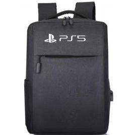 Ghiozdan, Rucsac de Voiaj Pentru Consola PS5, PS4, Adaptor USB Extern, Material Textil, 41x28x12 CM, Negru