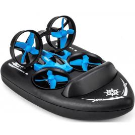 Mini Drona de Jucarie Cu Barca H36F, 3 in 1 Apa, Pamant, Aer, Sistem 6-axis gyro, 2 Moduri Viteza, Buton Reintoarcere Automata, Stabilizare in Aer, Rotire 360