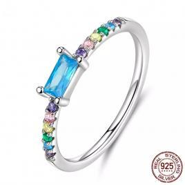 Inel din Argint 925 cu pietricele zirconiu multicolor