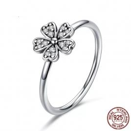 Inel din Argint 925 in forma de trifoi