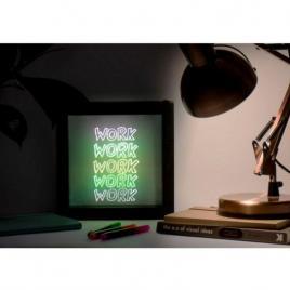 Lampa rama, cu lumina led neon,pentru mesaje fluorescente, 23 x 23cm si 3...
