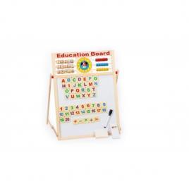 Tabla magnetica de scris cu doua fete si socotitoare