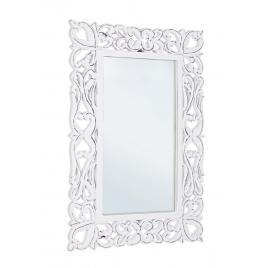 Oglinda de perete cu rama din lemn alb antichizat dalila 40 cm x 2 cm x 60 h