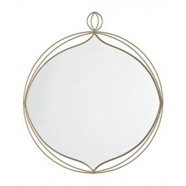 Oglinda de perete cu rama rotunda din fier auriu zaira 70 cm x 2.5 cm x 79.5 h