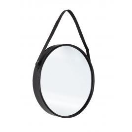 Oglinda de perete ovala cu rama din metal negru rind 41 cm x 9 cm x 80 h