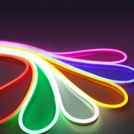 Banda LED Neon Flex 5 metri, 24V CULOARE ROSU