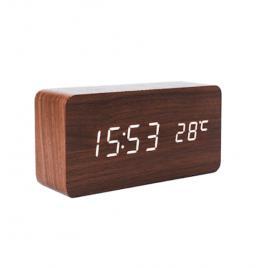Ceas de birou led cu afisaj ora si temperatura