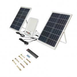Lampa LED Breckner Germany cu panou solar 100W proiector 300W baterie 3,2V/40Ah