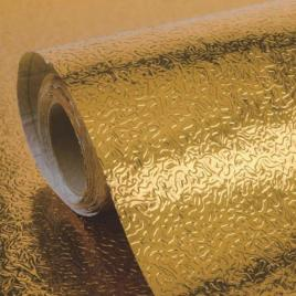 Set 3 x folie adeziva de aluminiu, 60 x 300 cm, auriu