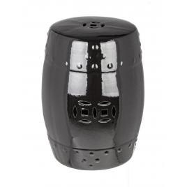 Taburet din ceramica neagra sfinge Ø 33 cm x 46 h