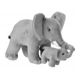 Jucarie plus mama si puiul - elefant