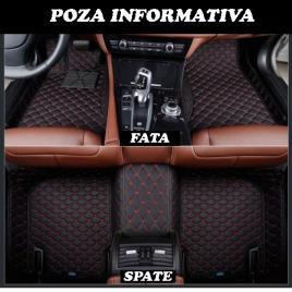 Covorase auto lux piele 5d audi a4 b9 2016-> ( 5d-024 cusatura rosie ) maniacars