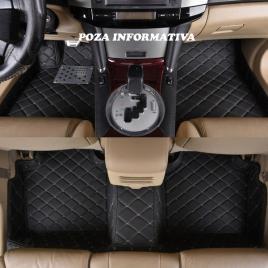 Covorase auto lux piele 5d audi q7 2005-2015 ( 5d-028 cusatura bej ) maniacars