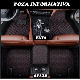 Covorase auto lux piele 5d audi q7 2005-2015 ( 5d-028 cusatura rosie ) maniacars