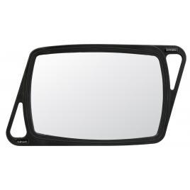 Oglinda profesionala cu cadru de cauciuc  32,5x 21,5 cm.