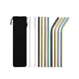 Set 8 paie metalice, reutilizabile, multicolor, gonga