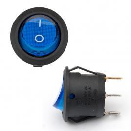 Intrerupator auto bestautovest rotund albastru 20ah 12v cu 2 pozitii diametrul de 20 mm (fi 20) cu 3 papuci kft auto