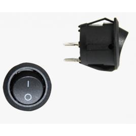 Intrerupator auto bestautovest rotund negru 20ah 12v cu 2 pozitii diametrul de 20 mm (fi 20) cu 3 papuci kft auto
