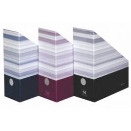 Suport document vertical herlitz montana, 11cm, carton negru, 10085090