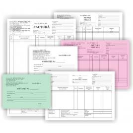 Tipizat factura a5 cu tva, 3 exemplare, autocopiativ