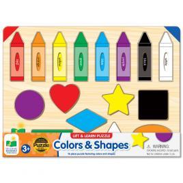 Puzzle 16 piese - sa invatam culorile si formele