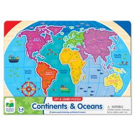 Puzzle the learning journey - sa invatam continentele si oceanele 22 piese