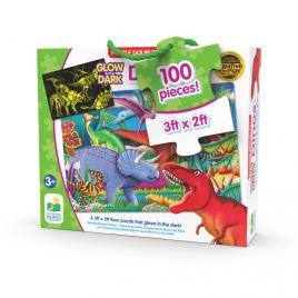 Puzzle straluceste in intuneric 100 piese - dinozauri