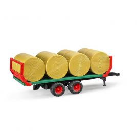 Remorca transport baloti cu 8 baloti rotunzi bruder